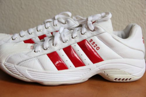 bee74c71f EUC Men s Adidas Red Superstar 2G SS2G All Leather Basketball Tennis Shoes  Sz 12