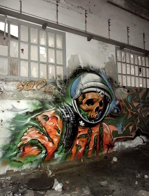 "Artist :SAV45 • Dead Space ◦"" Mataró, Spain"""