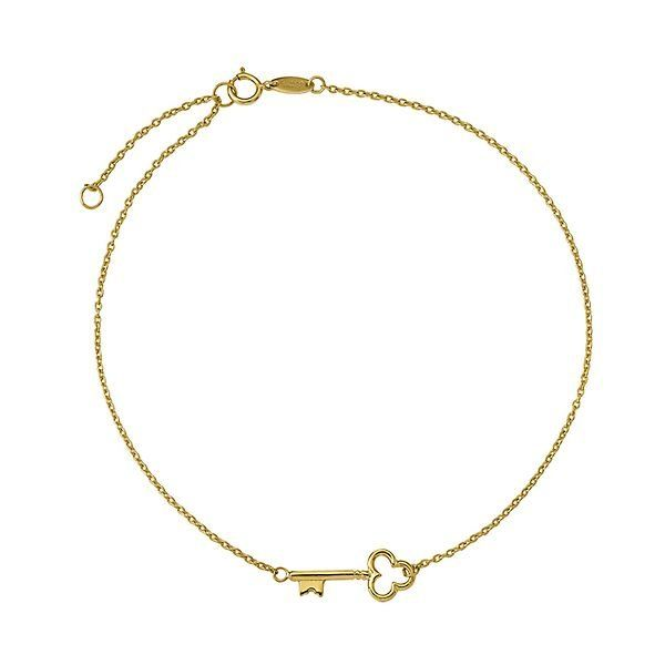 Beautiful Yellow gold 14K 14k 3 Hearts w//1 inch Extension Anklet