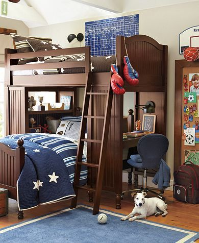 I know this is about nurseries, but my older son would kill for bunkbeds #potterybarnkids