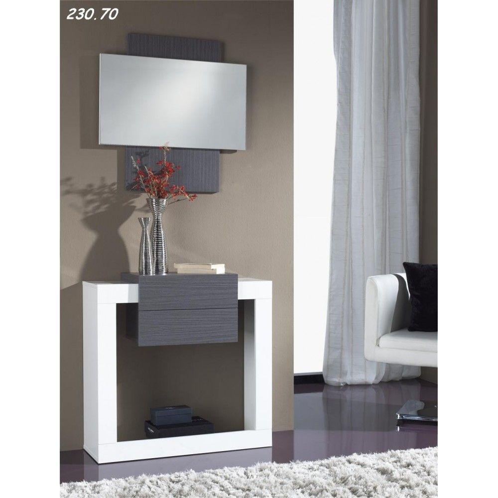Meuble Du0027entrée Moderne SANDY + Miroir , Disponible En 2 Coloris, Meuble Du0027 Entrée - HcommeHome
