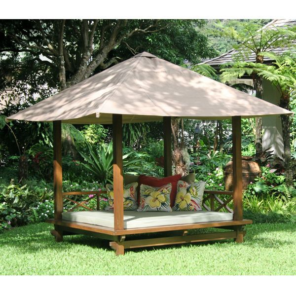 Outdoor cabana outdoor cabana daybed from www for Outdoor cabana decorating ideas