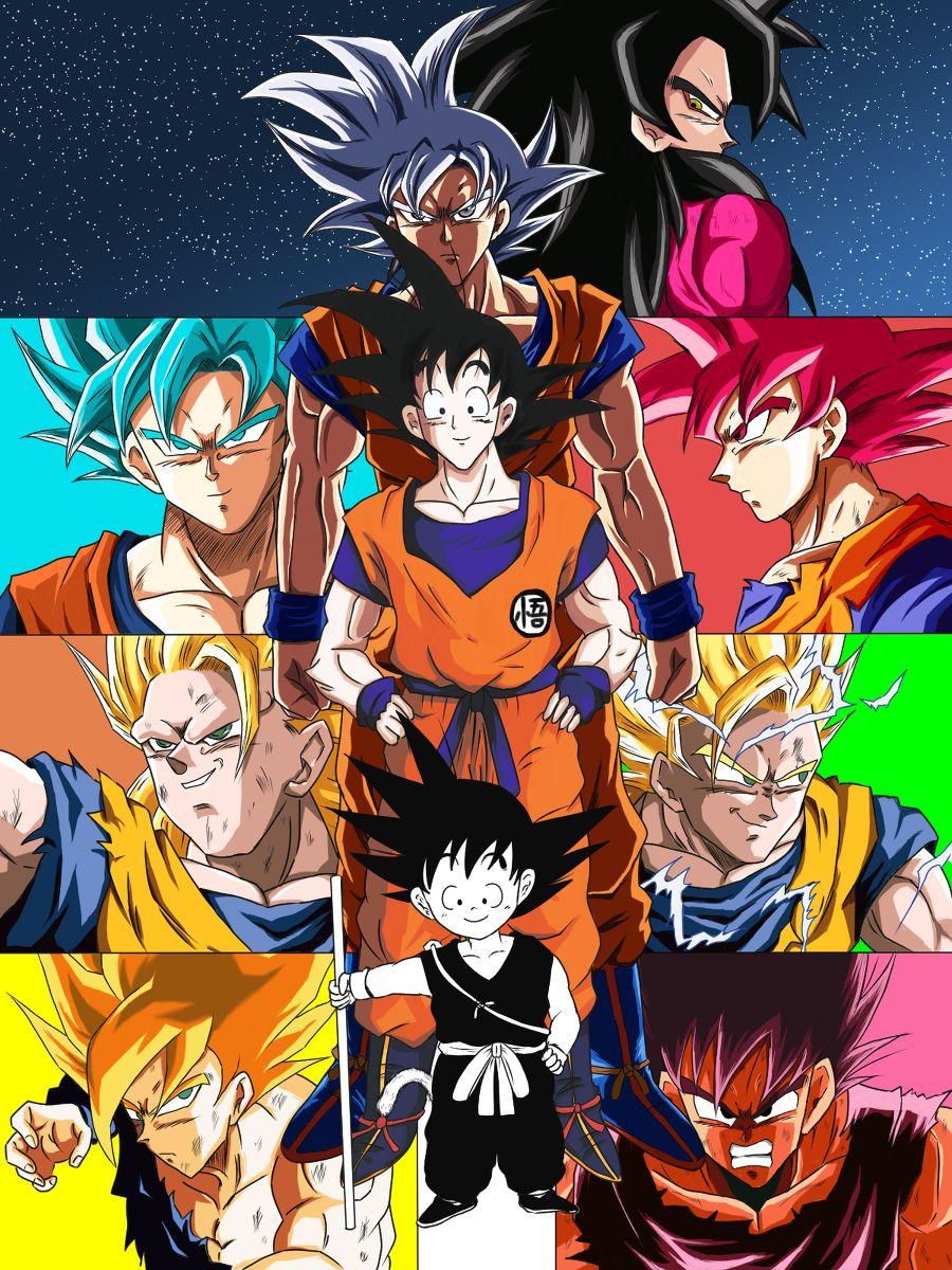 Goku Evolution Dragon Ball Super Goku Dragon Ball Z Dragon Ball Super