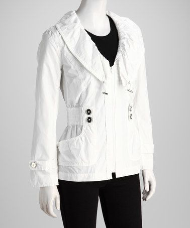 Take a look at this Joymark White Jacket by Joymark on #zulily today!