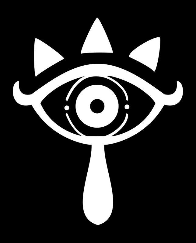 Legend Of Zelda Breath Of The Wild Sheikah Symbol White And Black Legend Of Zelda Tattoos Zelda Tattoo Sheikah Symbol