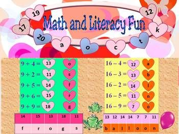 Addition And Subtraction  Math And Literacy Fun  Powerpoint