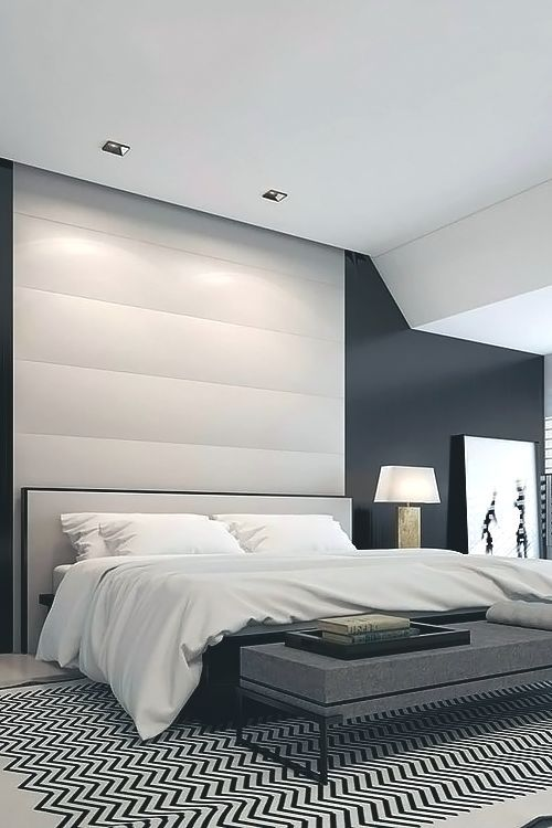 31 elegant minimalist bedroom ideas and inspirations for Minimalist black and white bedroom