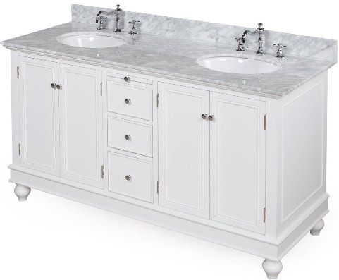 Bella 60 Inch Bathroom Vanity  Carrera White Reborn Homes