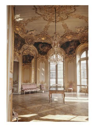 'Salon de la Princesse de Soubise (salon ovale). Vue en hauteur' Giclee Print - | Art.com