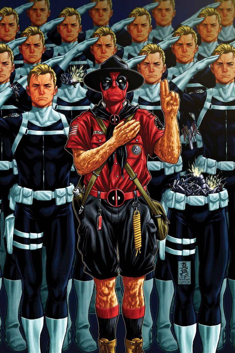 #Deadpool #Fan #Art. (Deadpool Vol.3 #22 Cover) By: Mark Brooks. (THE * 5 * STÅR * ÅWARD * OF: * AW YEAH, IT'S MAJOR ÅWESOMENESS!!!™)[THANK U 4 PINNING!!!<·><]<©>ÅÅÅ+(OB4E)     https://s-media-cache-ak0.pinimg.com/564x/5c/e4/48/5ce448502a459d8ed80f15535062f612.jpg