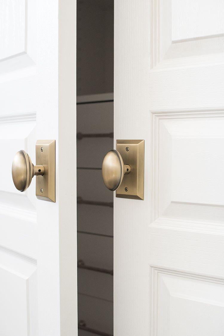 A Custom Closet For The Guest Room Door Handles Interior Door Hardware Interior Closet Door Hardware