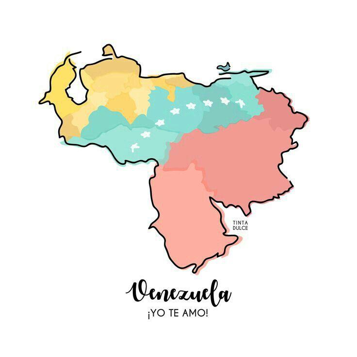 Te Amo Venezuela Vivavenezuela Illustrated Map Map Wallpaper Map Tattoos