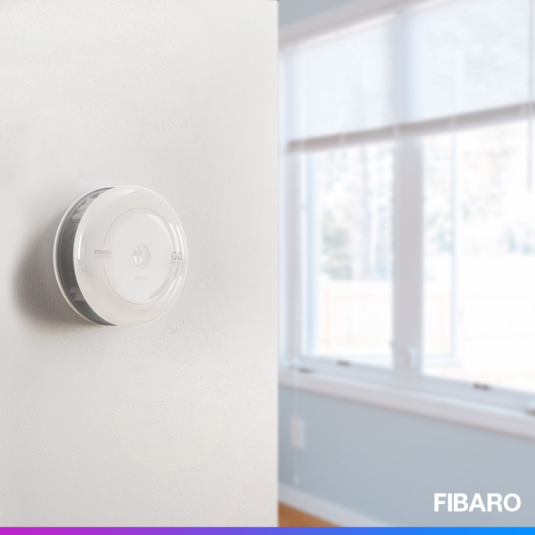 Protect Your Loved Ones From The Invisible Threat If There Is Any Sign Of Elevated Concentration Of Carbon Monoxide The Fibaro C Smart Home Wall Lights Light