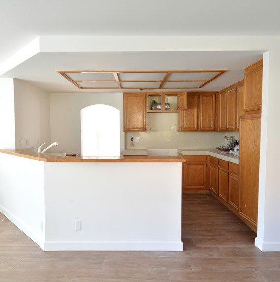 Remodel Woes Kitchen Ceiling And Cabinet Soffits