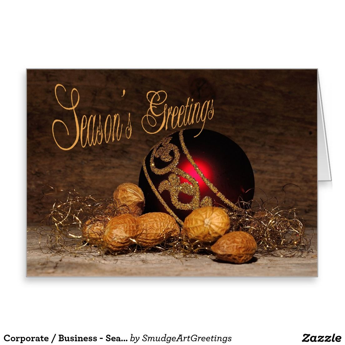 Corporate Business Seasons Greetings Holiday Card Business