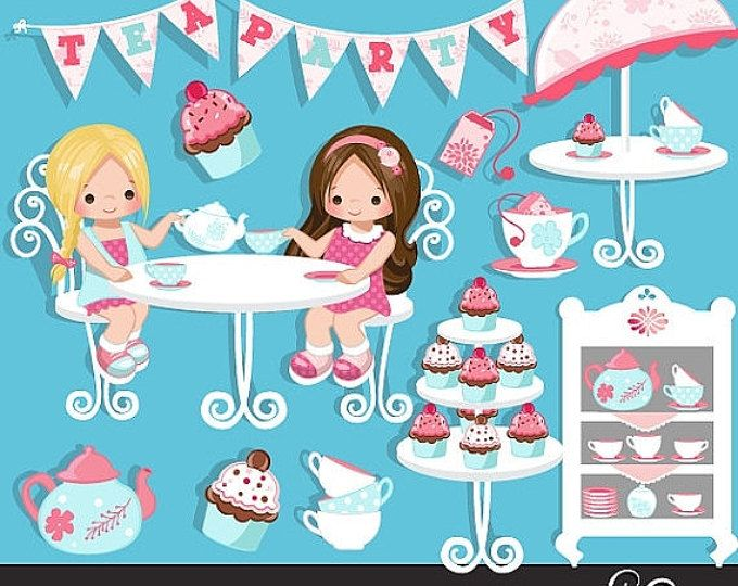 Dress Up Party Girl Clip Art