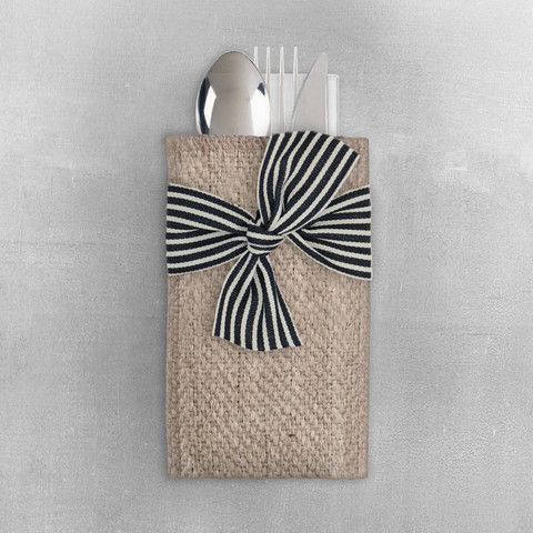 black stripe ribbon   set of 8