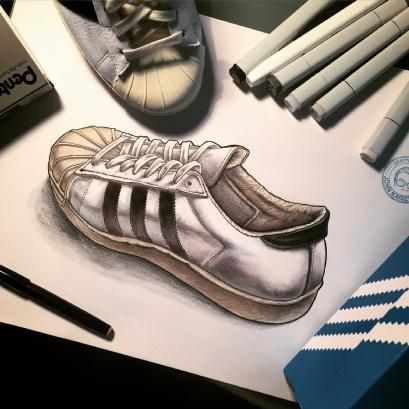 Great sketch of the adidas Superstar