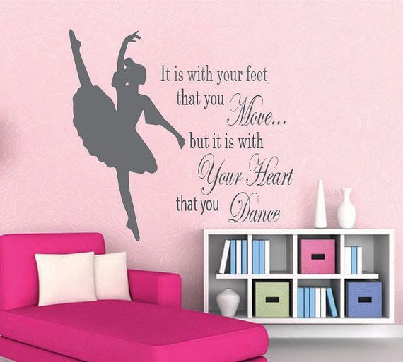 Ballerina Vinyl Wall Decal Dancer Name Vinyl Wall By SWVDesignCo - Custom vinyl wall decals dance