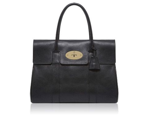Mulberry - Bayswater in Black-Soft Gold Grainy Print  77b299141ac64
