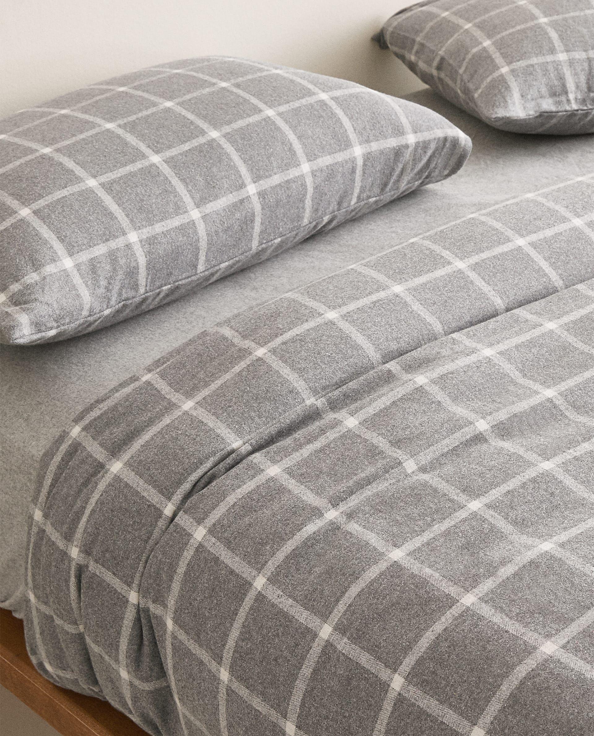 Funda Nórdica Franela Cuadros Fundas Nórdicas Ropa De Cama Dormitorio Nueva Colección Zara Home Méxi Flannel Duvet Cover Zara Home Flannel Bed Sheets