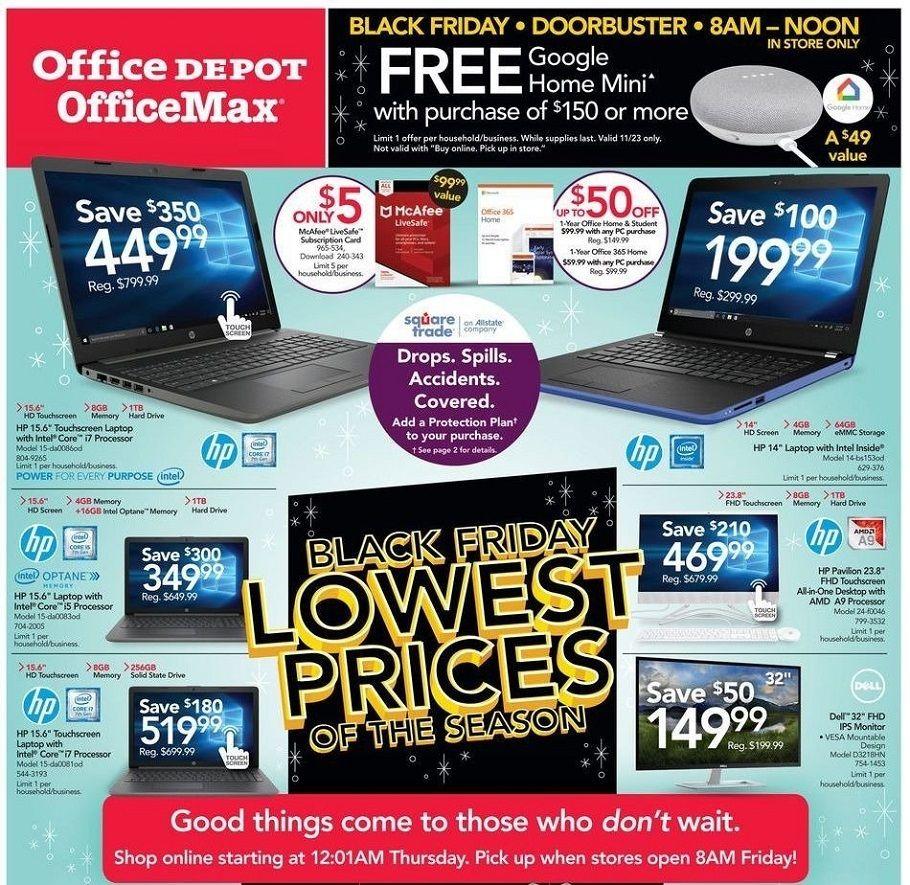 Office Depot 2019 Black Friday Ad Black friday, Office