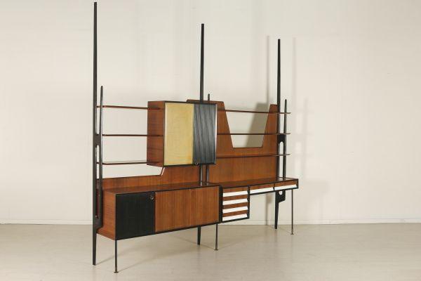 Mobili Piccoli ~ Mobile da sala; montanti in legno tinto ebano legno