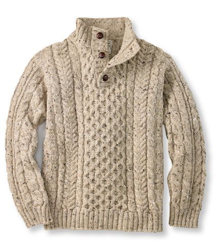 Knitting Patterns Cowl Scarf : Heritage Sweater, Irish Fishermans Button-Mock: Henleys and Zip-Necks ...