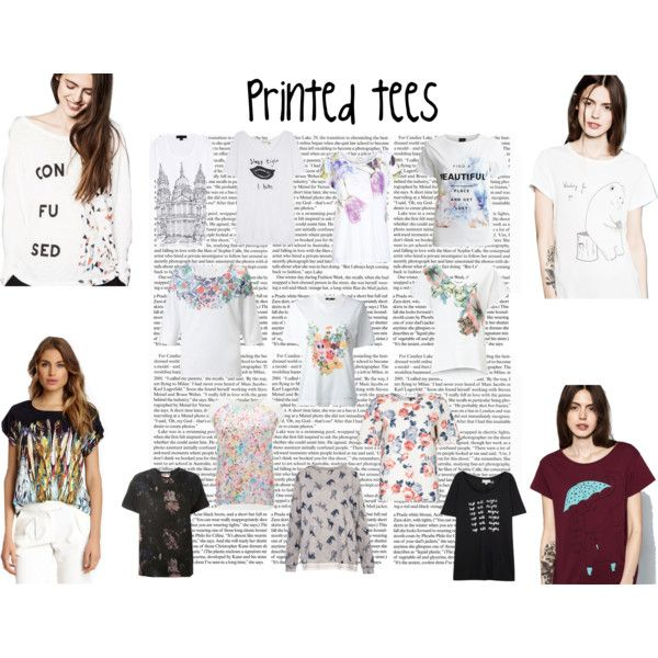 """Printed tees"" by lilianmoore on Polyvore"