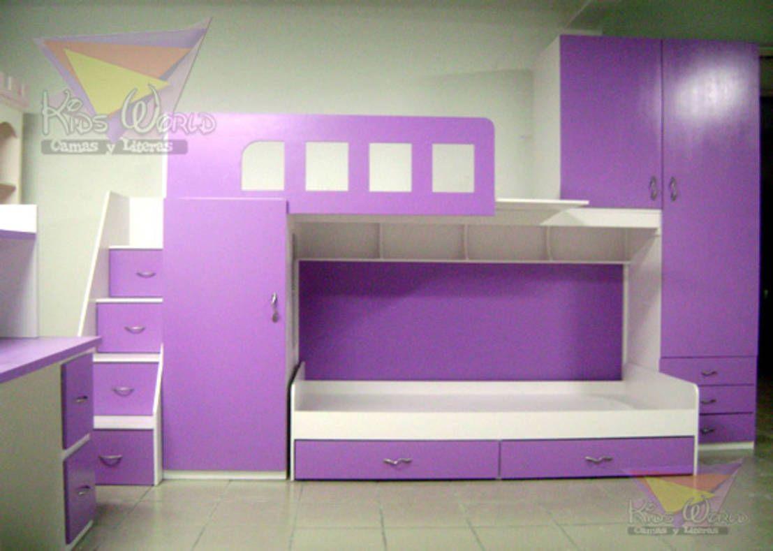Literas y muebles juveniles de camas y literas infantiles kids world ...