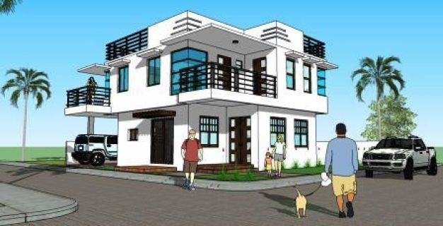 Corner With Roof Deck 2 House Designer And Builder Building A Deck 2 Storey House Design House Architecture Design