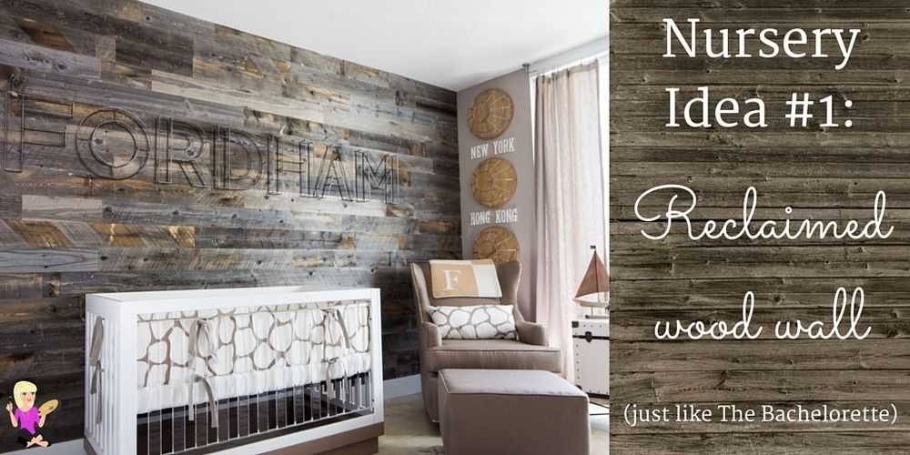 Get This Reclaimed Wood Wall Nursery Look With Removable Wallpaper Found On