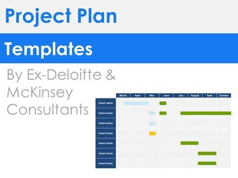 Project Plan Templates Project Management Pinterest Template