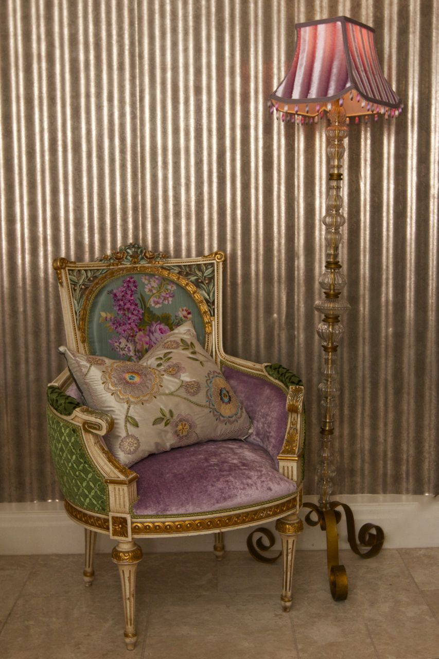 Beautiful Rare French Chair Upholstered In Designers Guild