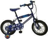 findathing247 Lazy Town Sportacus Boys Bike Lazy Town Sportacus 14 Boys Bike, BMX frame with safety pad set, 14 spoke wheels with chrome effect rims, printed saddle, fully enclosed chainguard, stabilisers, front (Barcode EAN = 5414301513124). http://www.comparestoreprices.co.uk/kids-bikes-
