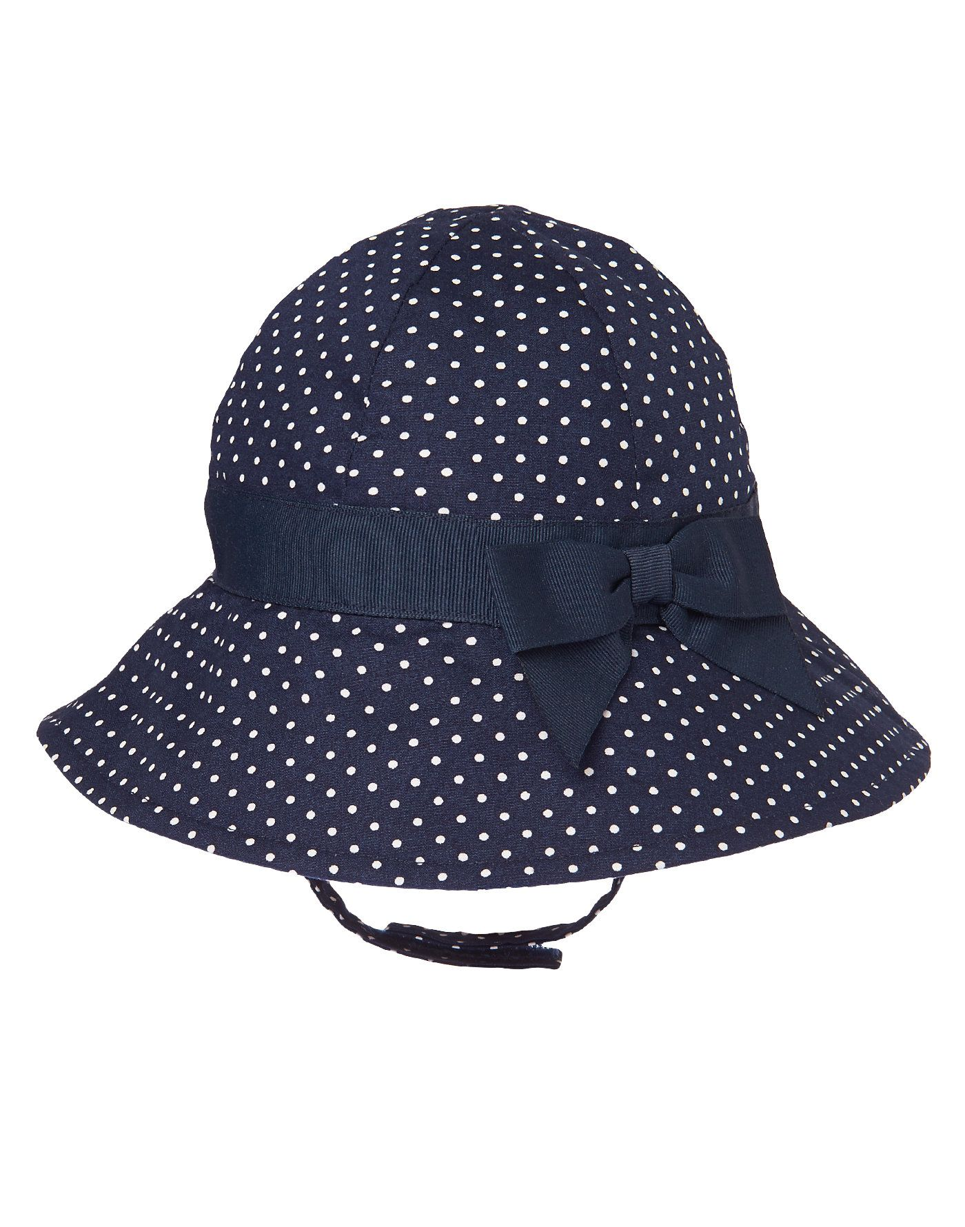 Baby Nautical Navy Dot Dotty Bow Hat by Gymboree. 328b701d8f17