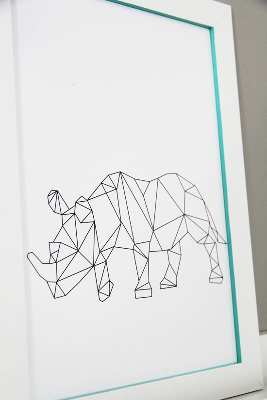 Trace outline of animals  than add lines  must try  //Bambula: A touch of color