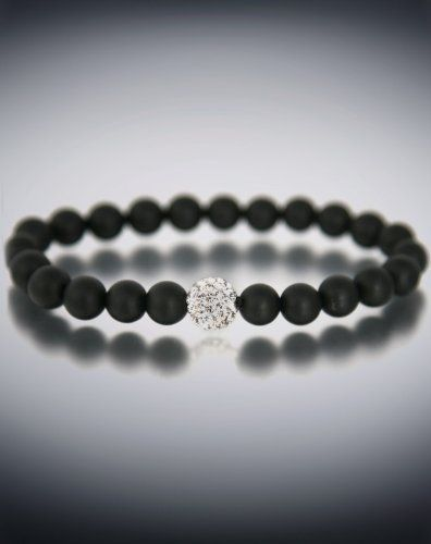 Dyoh Jewelry - Pave Rhinestone Inset and 8 mm Matte Black Onyx Bead Bracelet DYOH-PV150 (8 Inches) DyOH. $43.00. Pave Rhinestone Inset.. 8mm Bead. By DyOH Spiritual Jewelry. Pave Rhinestone Inset and 8 mm Matte Black Onyx Bead Bracelet. Available in 6inch 7inch 8inch or 9inch.. Save 12% Off!
