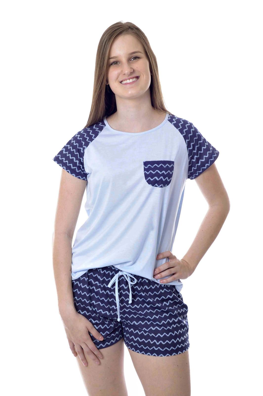ee3a20c85 Pijama Feminino Curto Estampado Adulto Short Doll Mania Pijamas Pijama  Feminino