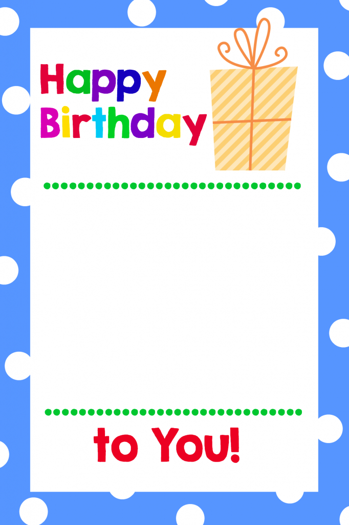Free Printable Birthday Cards (That Hold Gift Cards
