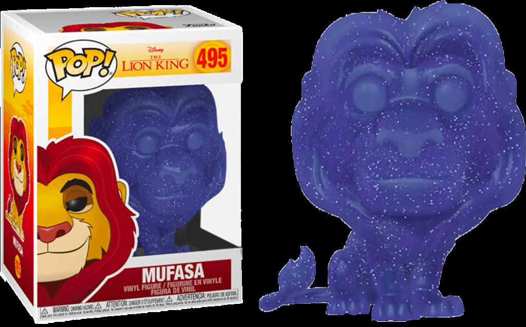 The Lion King Mufasa Spirit Translucent Glitter 495 Pop Vinyl Funko Exclusive