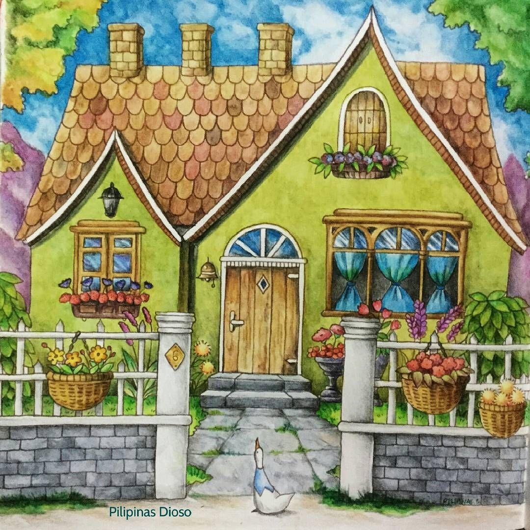 Coloring book real estate - Romantic Country Coloring Book 3rd Take By Eriy Coloringmasterpiece Coloring_secret Desenhoscolorir Arte_e_colorir