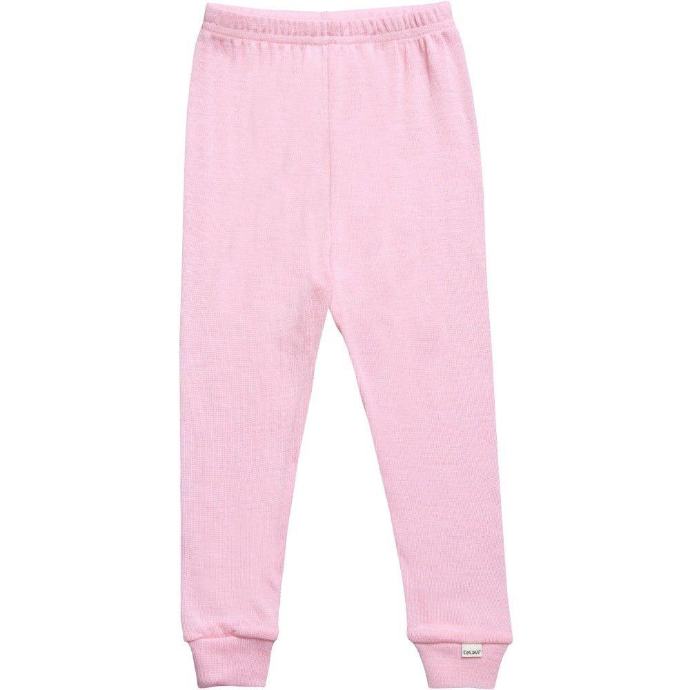 253717d6641b Baby Girls Pink Merino Wool Leggings