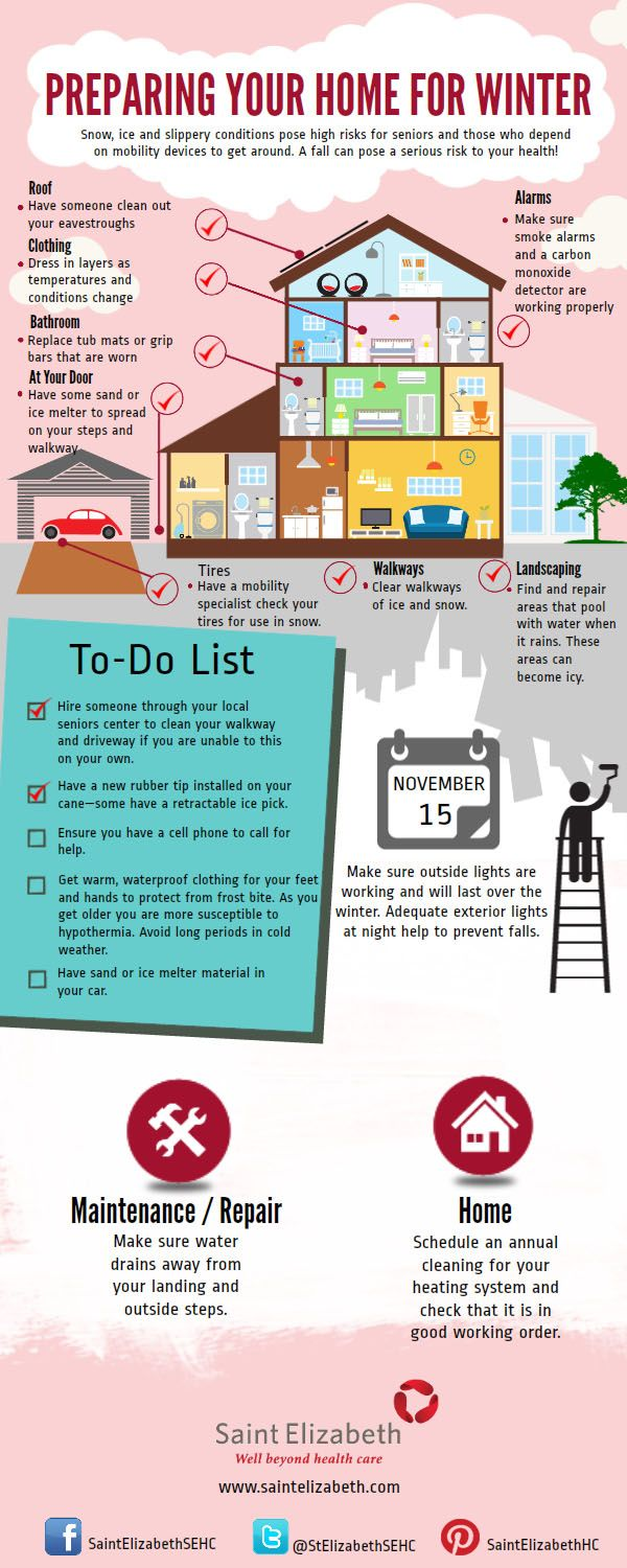 Infographic Preparing Your Home for Winter! seniors