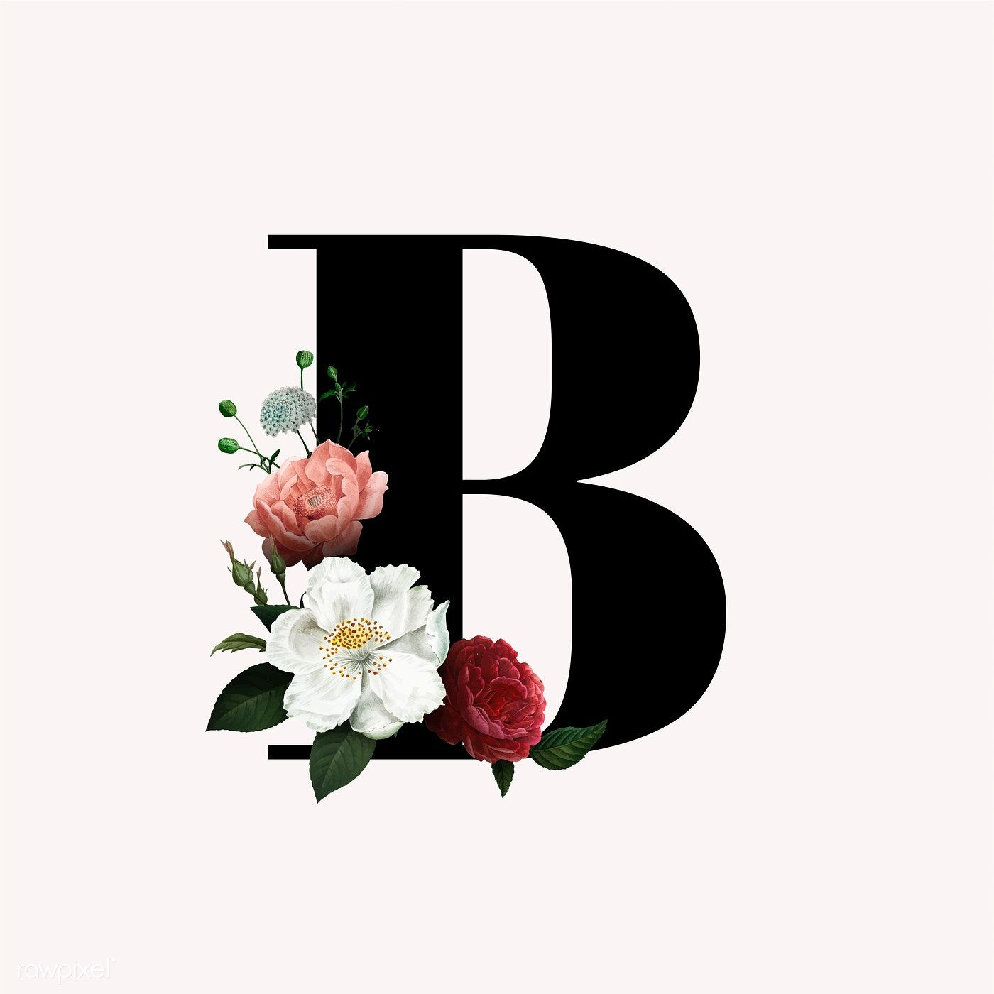 Classic And Elegant Floral Alphabet Font Letter B Vector Free Image By Rawpixel Com Manotang In 2020 Lettering Alphabet Fonts Lettering Fonts Fonts Alphabet