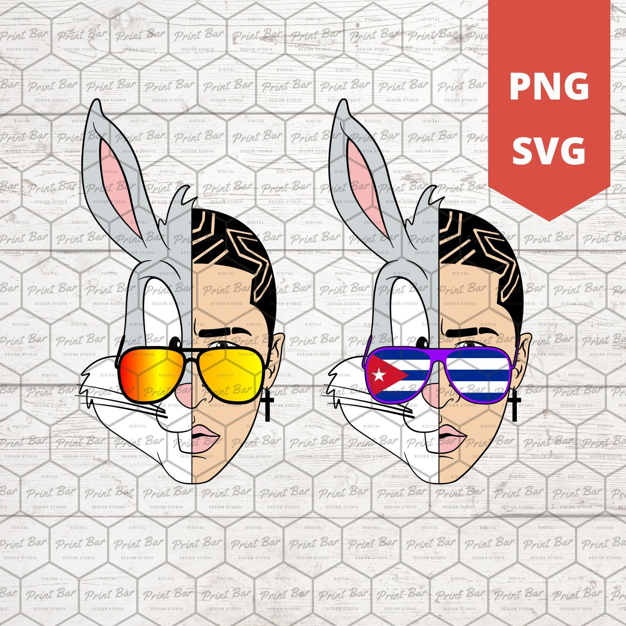 Bad Bunny Face Svg Png Etsy In 2020 Bunny Svg Bunny Face Bunny Party