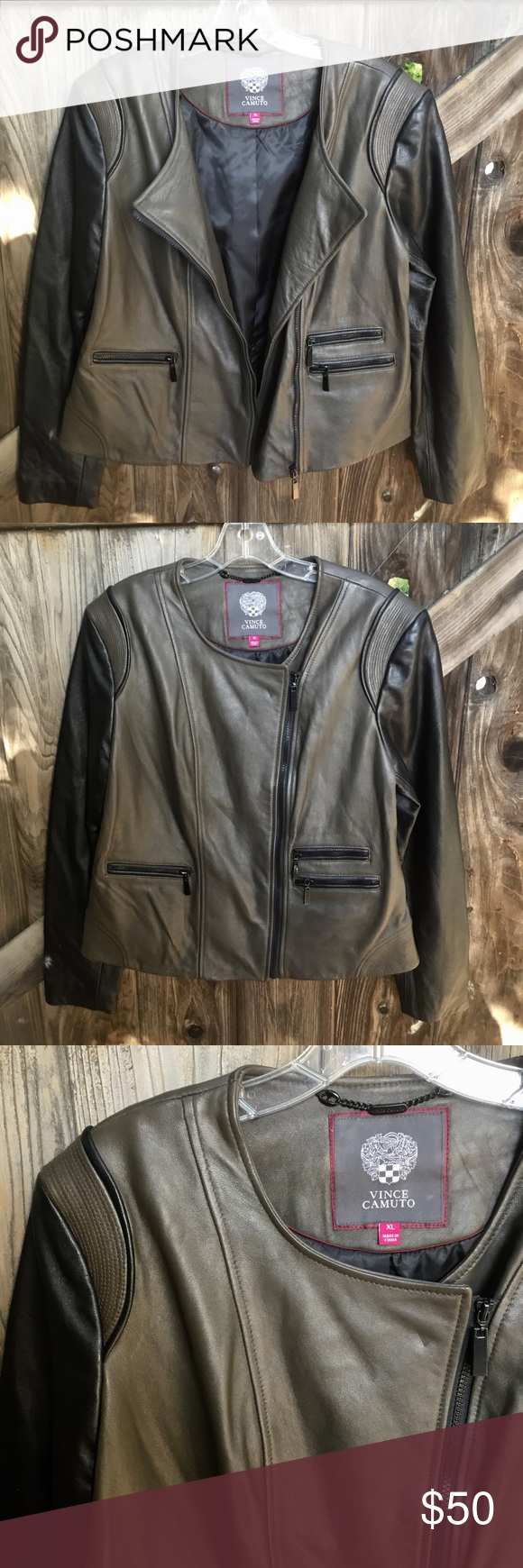 Vince Camuto Lamb Napa Leather Moto Style Jacket Moto Style Napa Leather Leather Moto [ 1740 x 580 Pixel ]