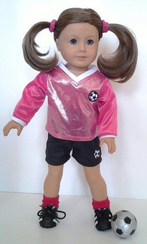 Pink Soccer Outfit for American Girl and 18 inch dolls-Complete $22.99 (save $9.01) + Free Shipping