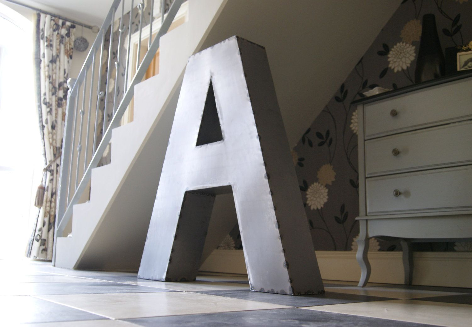 Giant Metal Letters By Joseph Mccaughern 249 99 Via Etsy These Serve No Purpose But I Love Them Anyway Metal Letters Design Big Girl Rooms