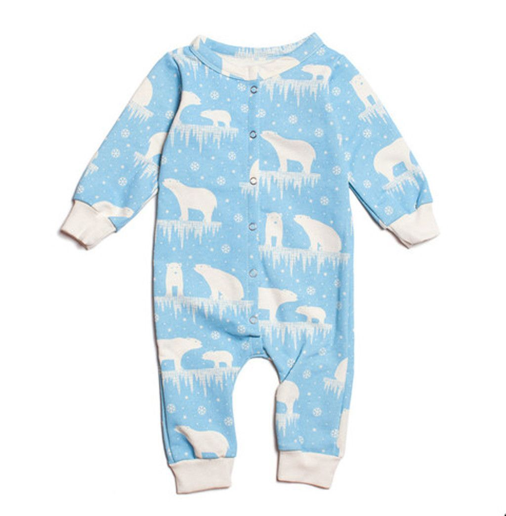 Super cute Polar Bear French Terry Jumpsuit. All organic and made in the USA…